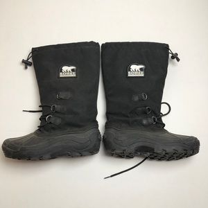 Sorel Big Horn Winter Boots Black Womens Size 10